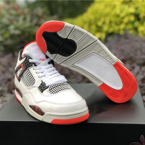 6fc5c7eb2253 2019 Wholesale New 4 IV FIRE red men basketball shoes MALE 4s sports  designer sneakers outdoor trainers top quality size 7.5-13