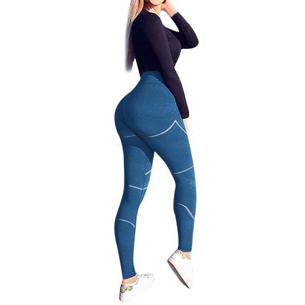 KLV yoga pants women fitness leggin Women's Fashion Workout Leggings Fitness Sports Gym Running Yoga Athletic Pants #C