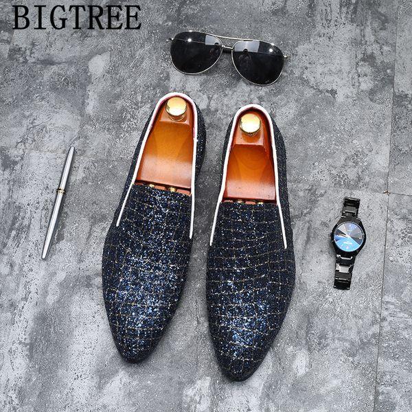 Elbise ayakkabı erkekler zarif kuaför loafer'lar erkekler parti ayakkabı marka İtalyan örgün klasik büyük boy pria sepatu kayma