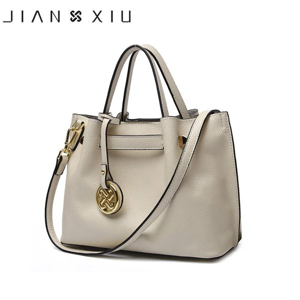 Jianxiu Enuine Leather Handbag Luxury Handbags Women Bags Designer Bolsa Feminina Nice Tote Borse Tassel Big Shoulder Bag