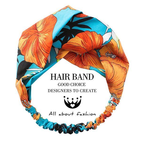 Karikatür Flamingo Çapraz Hairbands Kadın Türban Bandaj Saç Elastik Bantları Makyaj Bandı Diademas Saç Aksesuarları
