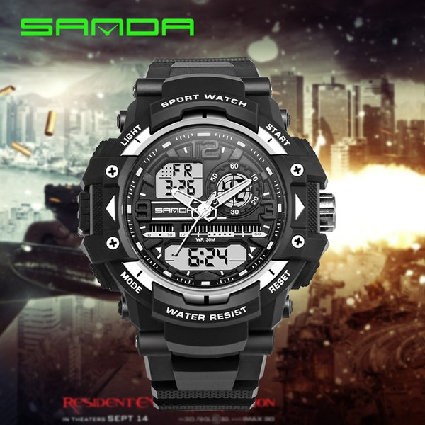 2019 Männer Quarz Digitaluhr Männer Sportuhren Relogio Masculino SKMEI S Uhren LED Wasserdichte Armbanduhren