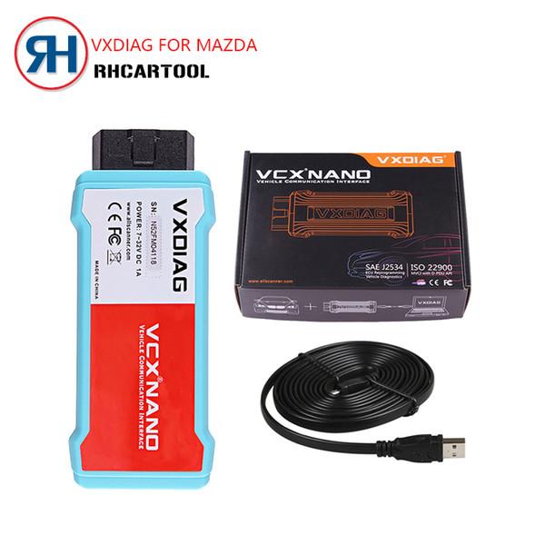 Best OBD2 Car Diagnostic tool Original VXDIAG VCX NANO wifi version for Mazda 2 in 1 IDS V112 Auto Diagnostic Tool Scanner