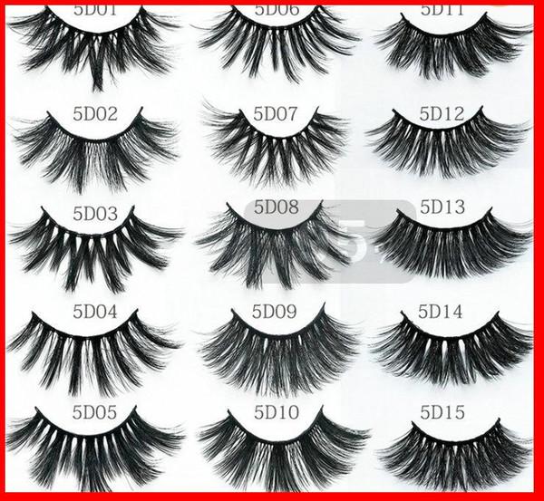 2020 New 20mm WOMEN'S Eyelashes Black Color Extra Long False Eyelashes Single Pair/pack Fashion Stylish 24 Types Handmade Lashes for Party