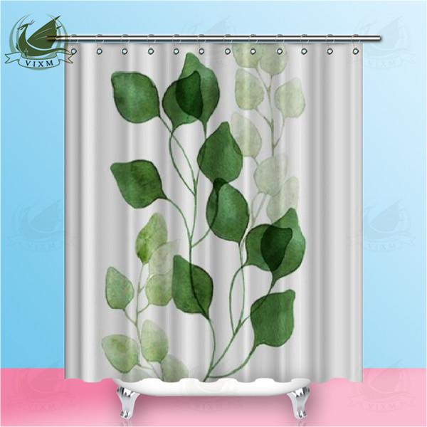 Vixm Nordischen Stil Pflanze Polyester Druck Wasserdichter Mehltau Duschvorhang Hochwertige Bunte Vorhänge für Badezimmer Dusche