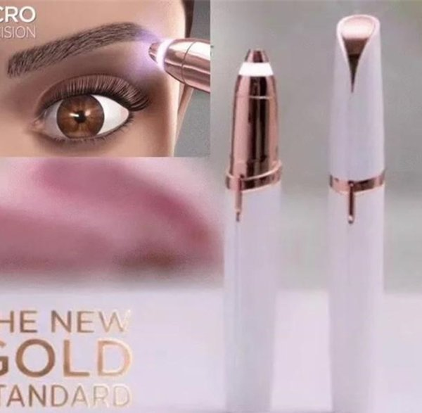 Electric Eyebrow Epilator Lipstick Hair Remover Shaver Painless Portable Face Care Pink Hair Removal Eye Brow Trimmer Tools with Retail Box