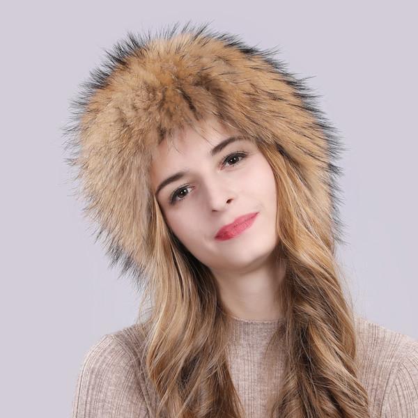 2019 heißer verkauf 100% natürliche echte fuchspelz frauen wintermütze gestrickte echte fuchspelz bomber hüte mode warme echte fuchspelz bombermütze
