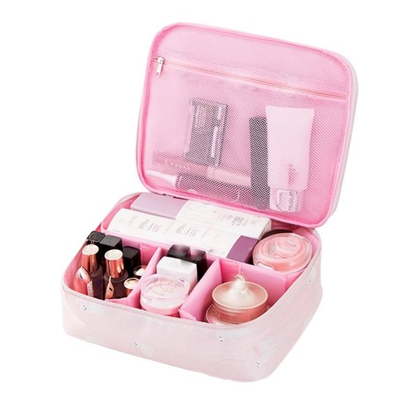 WomenFloral Portable Cactus Cosmetic Bag For Make Up Waterproof Women Trip Toiletry Bag Of Makeup Case Travel Organizer