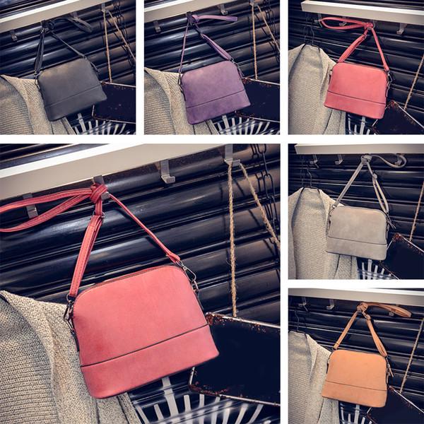 Moda Retro Mulheres Matte Ombro Saco Shell Bag Corpo Cruz Mini Travel 5 Cores para A Escolha
