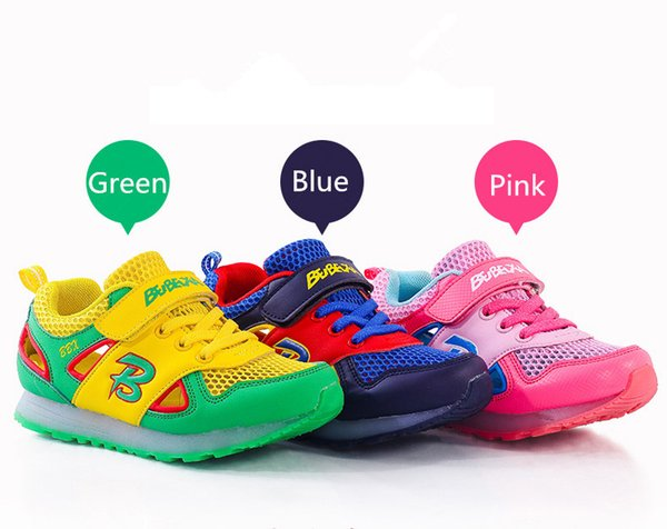 Hot cheap Led luminous Kids Shoes for boys girls Light Children Luminous baby Sneakers mesh sport Boy Girl Led Light Shoes