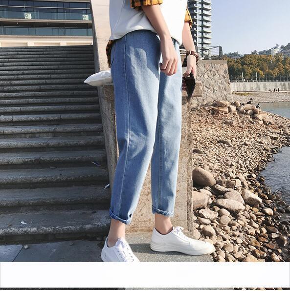 Pantalon large pour garçon version coréenne de la tendance des jeans droit lâches hommes ulzzang étudiants sauvages japonais neuf pantalons