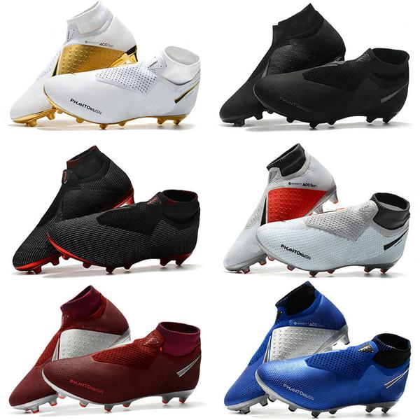 Mens Soccer Cleats Phantom VSN Elite DF AG sock Outdoor Soccer Shoes x EA Sports Phantom Vision Football Boots Scarpe calcio Size 39-45