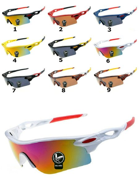 5 adet / grup! Fabrika Satmak-Ücretsiz Nakliye 9 Renkler Yeni radarlar Güneş Gözlüğü Moda Unisex Açık Spor Güneş Gözlüğü çin'de yapılan.