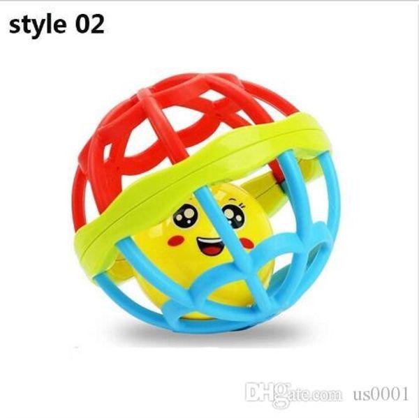 Diş kaşıyıcı Çıngırak Oyuncak Geliştirin Bebek Zeka Plastik topu Komik Eğitici Cep Oyuncaklar Noel Doğum Günü Hediyesi