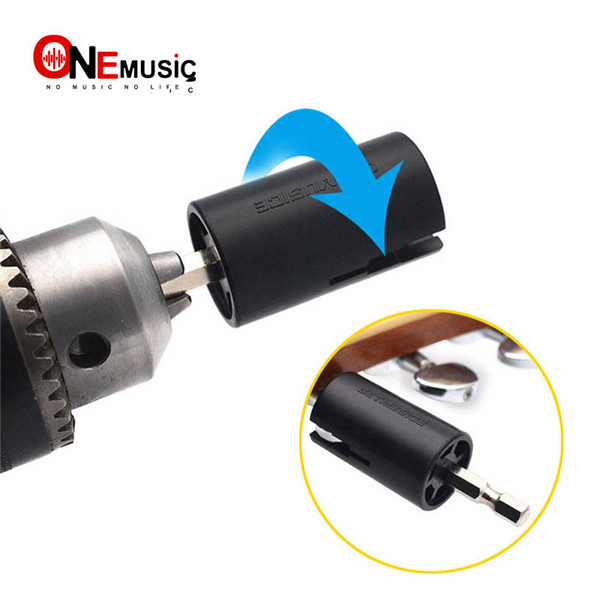 top popular Assemble Electric Drill Hexagonal Guitar String Winder Head Tools For Electric Acoustic Guitar Bass Parts & Accessories 2021