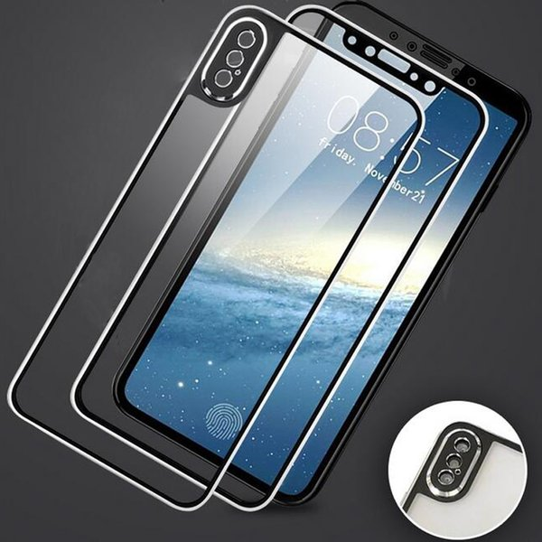 3D Curved Edge Front+Back Tempered Glass For iPhone X Full Screen Protection Replacement Case Cover for Apple iPhone XS Max XR