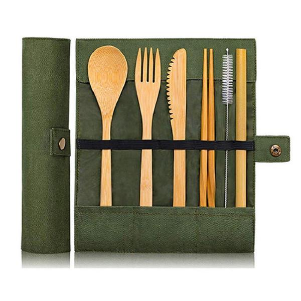 Bambú cubiertos cuchara cuchillería ajustar la protección del medio ambiente portátil sanitaria pulido manual antideslizante personalidad vajilla envío libre