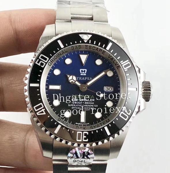 Top Mens Automático Cal.3135 Assista Men Rotating Cerâmica Bezel Dive Mar 116660 Eta 904L Relógios De Aço AR Perpetual Fábrica 126660 Relógios De Pulso