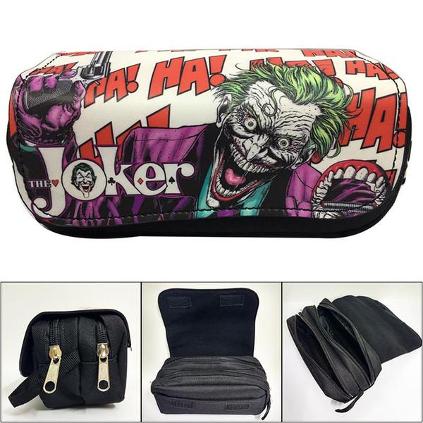 Canvas Cartoon Joker Pencil Case Studenti penna della cancelleria del sacchetto della matita di Anime trousse in pelle maquillage femme Cosmetici casi borse