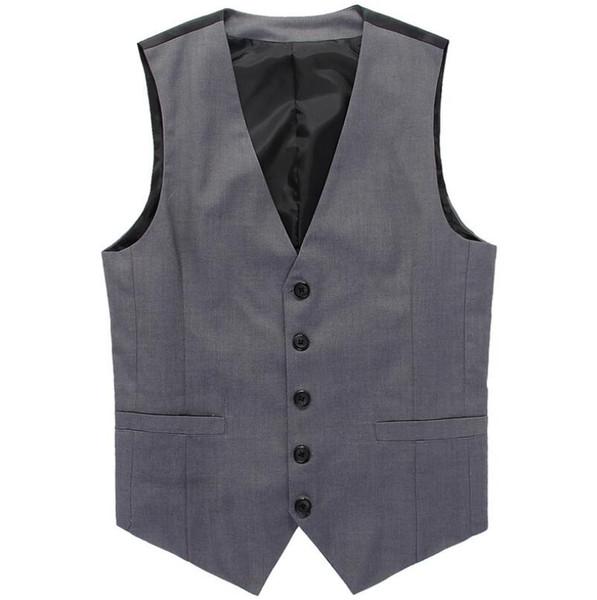 2019 nueva moda para hombre Chalecos Ropa de abrigo Trajes casuales Slim Fit Con estilo Abrigos cortos Traje Blazer Chaquetas Boda coreana Mens chaleco con cuello en v