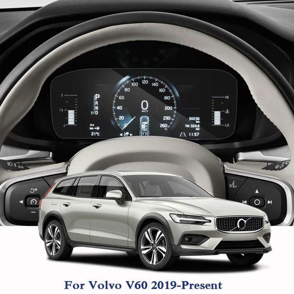 Tela de Navegação GPS de Vidro Filme De Vidro Para Volvo V60 2019-Presente TPU Dashboard Display Screen Filme Etiqueta Do Carro Acessórios