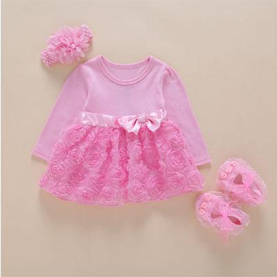 pink long sleeve bow