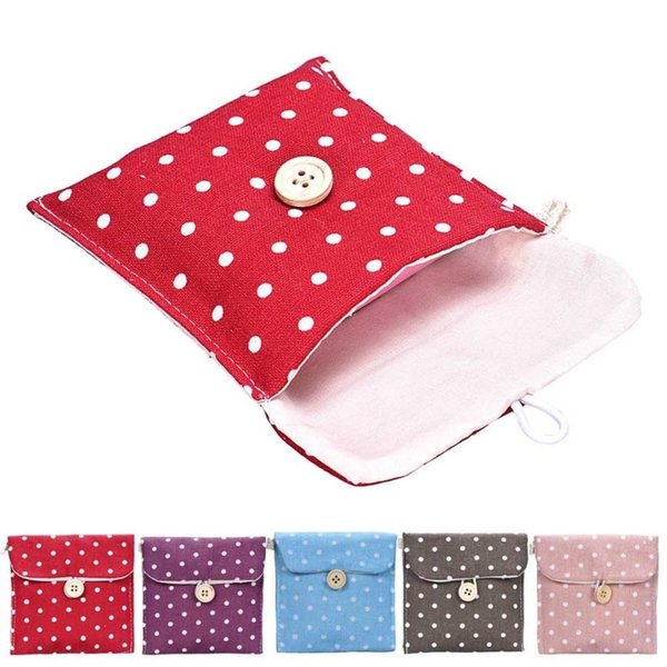 Designer- Girl Sanitary Napkin Bag Brief Cotton Sanitary Storage Bag Travel Bags Woman Towel Holder Pouch Cosmetic Bags & Cases #29861