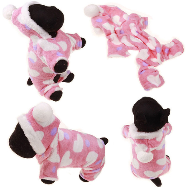 Fashion Pet Puppy Warm Clothes Winter Pet Dog Coral Fleece Clothes Dog Coat Hoodies Reindeer Snowflake Jacket Apparel M-XL DH0984-1
