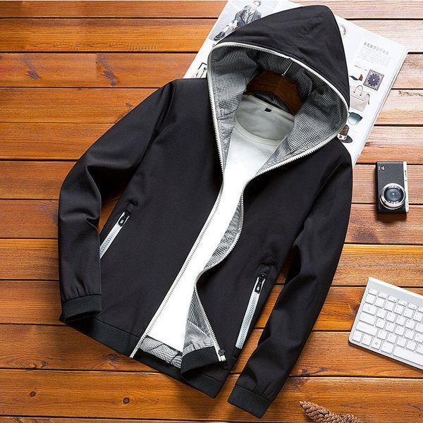 Yeni 2019 Sonbahar ceket erkekler ince ceketler erkekler casual lover ceket hip hop rüzgarlık kapüşonlu ceket kaban fermuar parka menMX190829