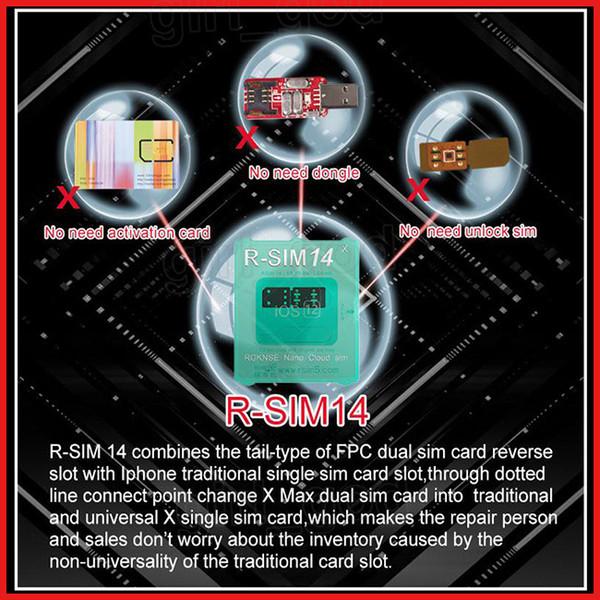 R-sim 14 RSIM14 R SIM 14 unlock iphone xs max xr IOS12.X iccid perfect unlocking sim sprint AU softbank LTE 4G
