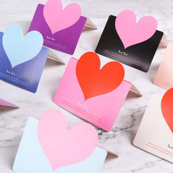 2019 Love Heart Shape Place Invitations Cards Name Message Greeting Card Valentine S Day Gift Wedding Party Table Decor From Sakuna 33 5
