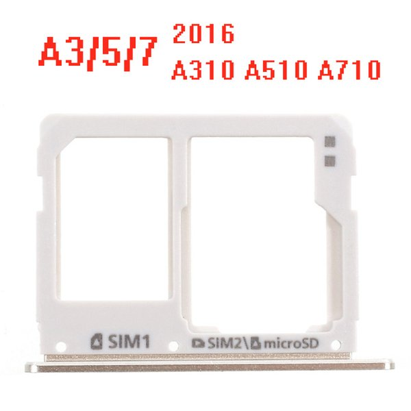 New For Samsung Galaxy A3 A310F A710 A5 A510 2016 SIM Card Tray Holder Slot Adapter Parts Dual Micro SD Gold Silver Gray Pink Color