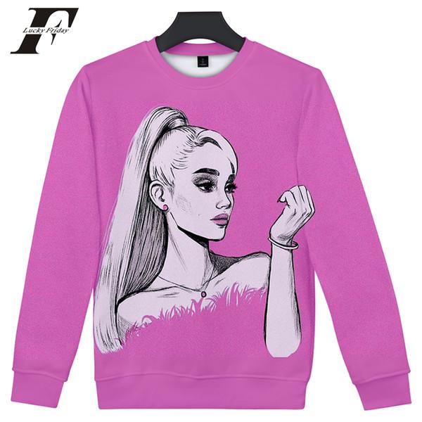 Ariana Grande 3D sweat à capuche femmes à manches longues Sweats à col rond streetwear Harajuku hit hop Clothes Plus Size