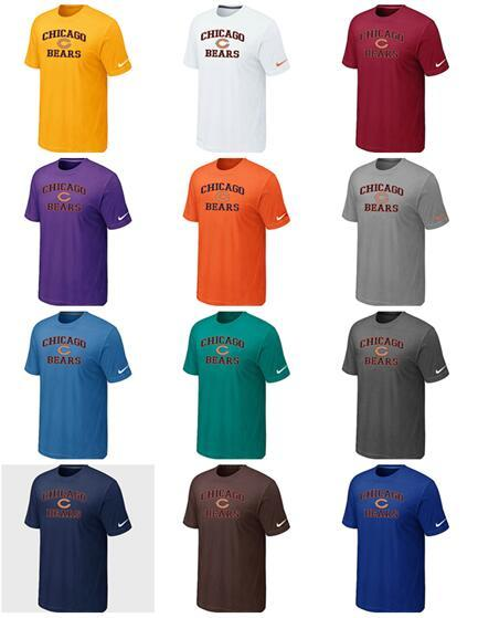 La nueva tendencia Chicago Men Bears Sideline Legend Authentic Polychrome Heart LogoDri-FIT T-Shirt
