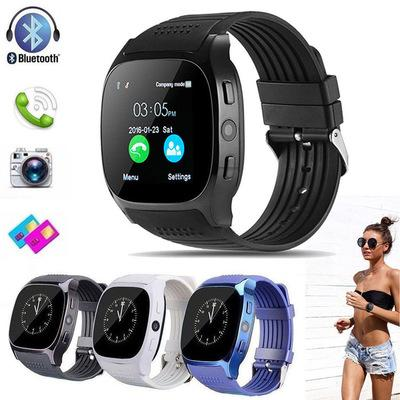 T8 Smart Watch Bluetooth with Camera Facebook Whatsapp Support SIM TF Card Call Sport Smartwatch for IOS Android Smart Phone