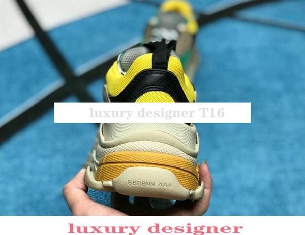 Çok Lüks Üçlü S Tasarımcı Düşük Yeni Varış Sneaker Kombinasyonu Tabanı Botları Mens Womens Koşucu Ayakkabı En Kaliteli Spor Rahat ayakkabı C6