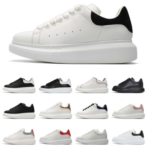 reflectantes del Reino Unido las mujeres del diseñador de lujo zapatos de hombre del diseñador de moda de alta calidad 3M zapatos de plataforma del partido zapatillas de deporte casuales Des Chaussures
