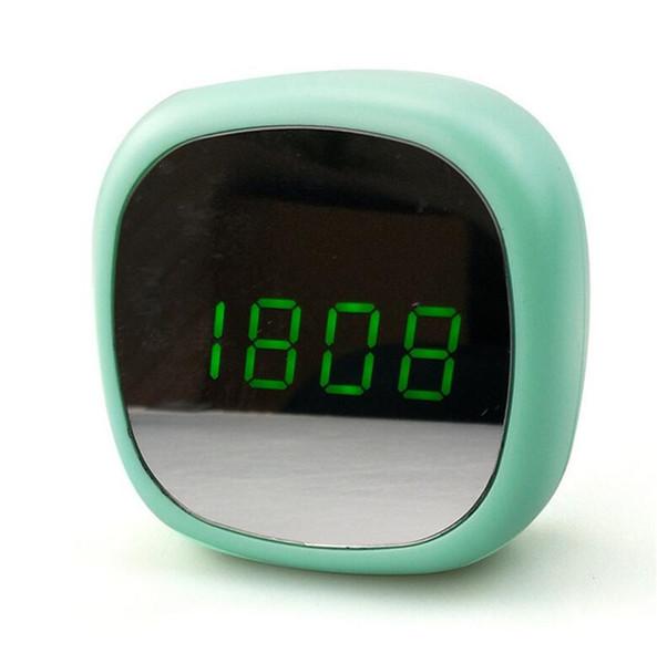 New creative mirror multi-functional alarm clock led cosmetic mirror electronic clock dual power mirror clock A2229c