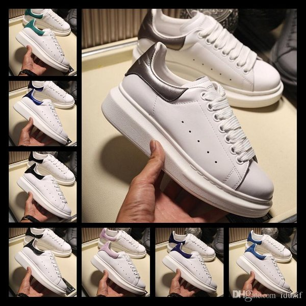 2018 Name Brand Man women Casual Shoes Flat Wrinkled Leather Lace-up Low Cut Trainers Runaway Arena Sht sneakers size 35-44