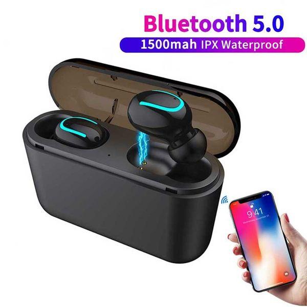 Auriculares inalámbricos Q32 Auriculares Bluetooth Mini teléfono celular Auricular con Power Bank Estéreo Deportes Manos libres inalámbrico Micrófono para juegos Auricular