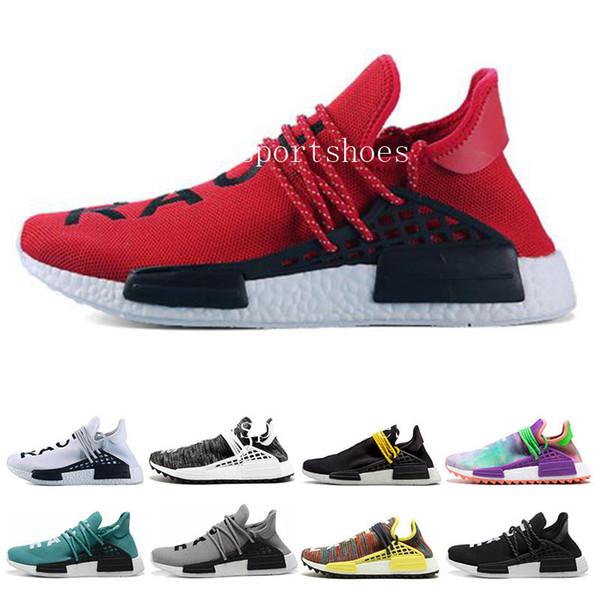 Barato Human Race Afro Hu Solar Pack Sneaker NERD Homecoming Zapatos para correr Hu trail holi Hombres Mujeres entrenador Deportes Calzado deportivo talla 36-45