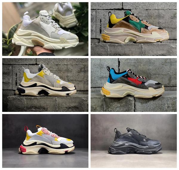 Triple S Luxury Casual Shoes Men Women Trainer Shoe Women Chunck Bottom 5 Combination Soles Casual Shoe Designer Cushion Sole