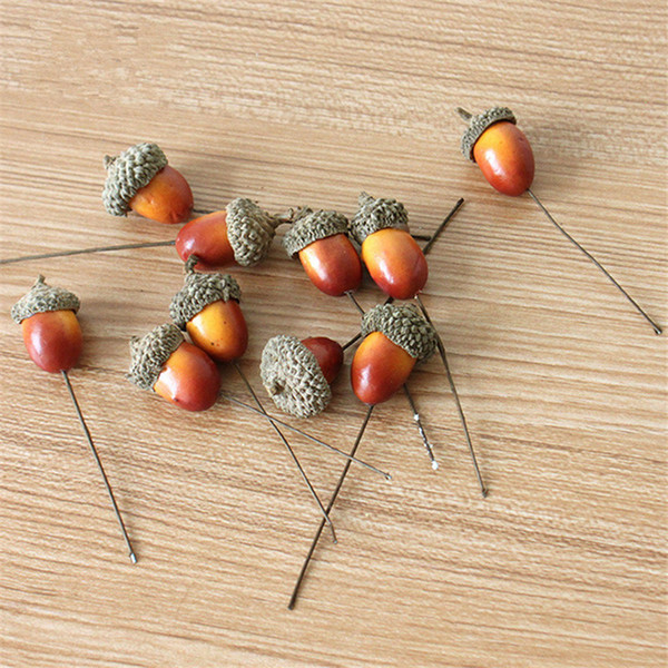 Christmas Wire Simulation Small Acorn Decoration Creative Pine Cones Pendant Christmas Decorations Gift Gadgets Pack Christmas Hangings Christmas