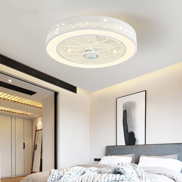 Modern LED Ceiling Fans With Lights For Living Room 220V Cooling Ventilador Round Ceiling Fan Lamp With Remote Control