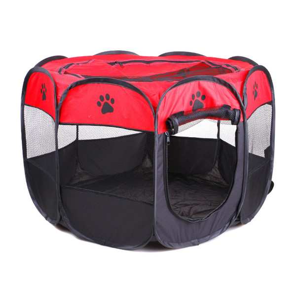 best selling Portable Folding Pet tent Dog House Cage Dog Cat Tent Playpen Puppy Kennel Easy Operation Octagon Fence