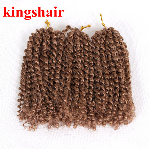 8 Inch Synthetic Afro Kinky Curly Crochet Braids Hair Ombre Kanekalon Malibob Crochet Hair Heat Resistant Short Braiding Twist