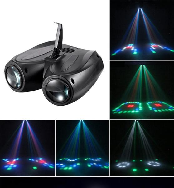 Портативный музыка авто / звук Actived 128 LED RGBW огни лазерный сценический эффект освещ