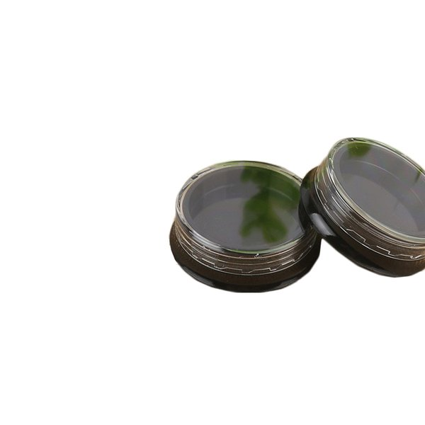 3G 3ML Round Black Eye Shadow Jars with Screw Cap Lids 3 Gram Cosmetic Containers Sample Jars Tiny Makeup Sample Containers