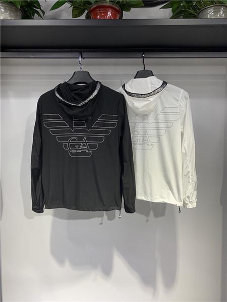 19ss Paris ARM Skinsuits Emporio-jaqueta de proteção solar Casaco De Homens Das Mulheres Casuais Jumper Camisolas Streetwear Pullovers Hoodies Ao Ar Livre