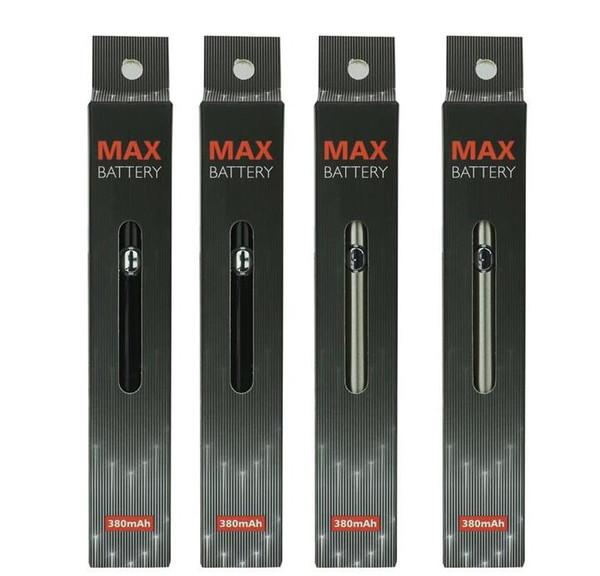 380mAh Max Preriscaldare Tensione della batteria Variabile di fondo con USB 510 Vape penna Batteria per M6T TH2 Amigo Liberty Vape cartucce